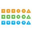 set of back arrow icons vector image