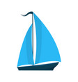 a ship with sails logo for water sports tourist vector image vector image