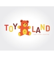 abstract bear toy logo template vector image