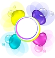 Abstract Bubbles Frame vector image vector image