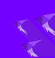 abstraction bird2 vector image vector image