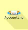 accounting computer graph logo flat style vector image