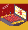 At the movies composition vector image