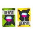 Banner with glass of wine vector image vector image