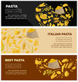 best italian pasta of high quality promotional vector image