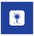 blue round button for seo search optimization vector image vector image