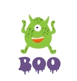 Boo card with funny monster