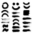 brush strokes set 10 vector image vector image