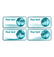business card with palms vector image vector image