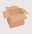 cardboard box flat style vector image vector image