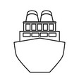 cargo ship icon image vector image