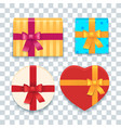 cartoon colorful gift boxes set vector image