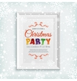 Christmas party poster template in picure frame vector image vector image