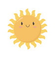 cute kawaii sun summer cartoon character vector image vector image