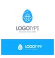 decoration easter easter egg egg blue solid logo vector image vector image