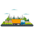 delivery service truck isolated icon vector image vector image