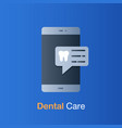 dental care concept appointment on mobile