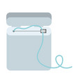 dental floss equipment colorful silhouette vector image