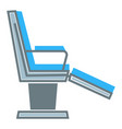dentist chair isolated icon dentistry clinic vector image vector image