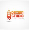 design studio logo vector image