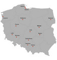 detailed map of the poland vector image vector image
