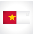 Envelope with Vietnamese flag card vector image