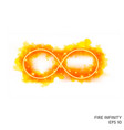 fire infinity symbol with neon counter vector image vector image