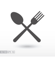Fork and spoon - flat icon Sign Food vector image vector image