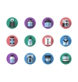 Fragrances round color icons set vector image