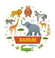 group african safari animals vector image vector image