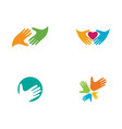 hand care icon business vector image vector image