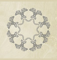 hand drawn vintage floral ornament vector image