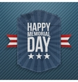 Happy Memorial Day textile Poster and Ribbon vector image vector image