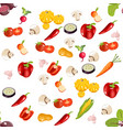 healthy food background vector image vector image