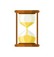 hourglass retro isolated colorful flat icon vector image vector image