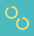 huggie earring jewelry related icon flat design vector image vector image