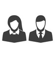 icon man and woman vector image vector image