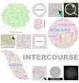 INTERCOURSE vector image