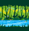 jungle river game background vector image vector image