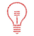 lamp bulb fabric textured icon vector image vector image