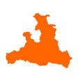 map of salzburg vector image vector image