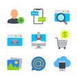 marketing and seo colored trendy icon pack 3 vector image