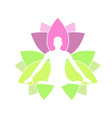 meditation and tranquility- lotus or padma vector image