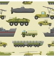 military trucks pattern vector image vector image