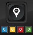 Minus Map pointer GPS location icon symbol Set of vector image vector image