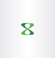 number 8 eight logo green icon vector image vector image