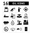 Oil industry and petroleum icons set vector image