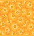 orange yellow cosmos flower seamless background vector image vector image