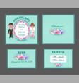 ornate wedding invitation cars vector image