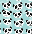 Panda Seamless pattern with funny cute animal face vector image vector image